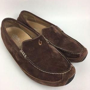 374aa060873 OLUKAI Brown Suede Men s Loafers Sz 8 41.5